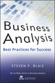 Business Analysis: Best Practices for Success (1118076001) cover image