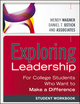 Exploring Leadership: For College Students Who Want to Make a Difference, Student Workbook (1118399501) cover image