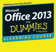 Office 2013 For Dummies eLearning Course - Digital Only (12 Month) (1118852001) cover image