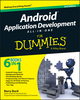 Android Application Development All-in-One For Dummies, 2nd Edition (1118973801) cover image