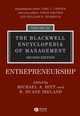 The Blackwell Encyclopedia of Management, Volume 3, Entrepreneurship, 2nd Edition (1405116501) cover image