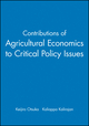 Contributions of Agricultural Economics to Critical Policy Issues (1405181001) cover image