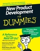 New Product Development For Dummies (0470117702) cover image