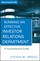 Running an Effective Investor Relations Department: A Comprehensive Guide  (0470630302) cover image