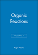 Organic Reactions, Volume 7 (0471006602) cover image