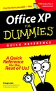 Office XP for Dummies: Quick Reference (0764508202) cover image