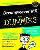 Dreamweaver MX For Dummies (0764516302) cover image