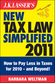 J.K. Lasser's New Tax Law Simplified 2011: Tax Relief from the American Recovery and Reinvestment Act, and More (1118008502) cover image
