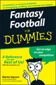 Fantasy Football For Dummies (1118051602) cover image