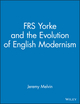 FRS Yorke: and the Evolution of English Modernism  (0471489603) cover image
