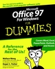 Microsoft Office 97 For Windows For Dummies (0764500503) cover image