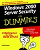 Windows 2000 Server Security For Dummies (0764504703) cover image