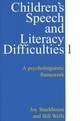 Children's Speech and Literacy Difficulties: A Psycholinguistic Framework, Book 1 (1861560303) cover image