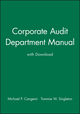 Corporate Audit Department Manual with Download  (0471281204) cover image