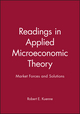 Readings in Applied Microeconomic Theory: Market Forces and Solutions (0631220704) cover image