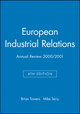 European Industrial Relations: Annual Review 2000/2001, 4th Edition (0631227504) cover image