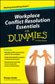 Workplace Conflict Resolution Essentials For Dummies, Australian and New Zealand Edition (0730319504) cover image