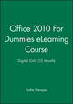 Office 2010 For Dummies eLearning Course - Digital Only (12 Month) (1118513304) cover image