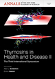 Thymosins in Health and Disease II: The Third International Symposium, Volume 1270 (1573319104) cover image