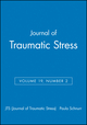 Journal of Traumatic Stress, Volume 19, Number 2 (0470049405) cover image