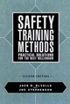 Safety Training Methods: Practical Solutions for the Next Millennium, 2nd Edition (0471552305) cover image