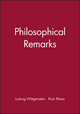 Philosophical Remarks (0631191305) cover image