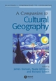 A Companion to Cultural Geography (0631230505) cover image