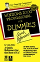 Windows 2000 Professional For Dummies Quick Reference (0764503405) cover image