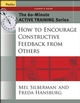 The 60-Minute Active Training Series: How to Encourage Constructive Feedback from Others, Leader's Guide (0787973505) cover image