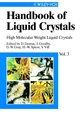 Handbook of Liquid Crystals, Volume 3, High Molecular Weight Liquid Crystals (3527620605) cover image