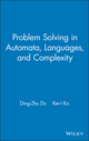 Problem Solving in Automata, Languages, and Complexity (0471439606) cover image