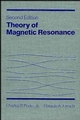 Theory of Magnetic Resonance, 2nd Ed. (0471815306) cover image
