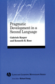 Pragmatic Development in a Second Language (0631234306) cover image