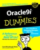 Oracle9i For Dummies (0764508806) cover image