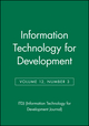 Information Technology for Development, Volume 12, Number 3 (0787988006) cover image