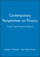 Contemporary Perspectives on Privacy: Social, Psychological, Political (1405116706) cover image