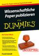 Wissenschaftliche Paper publizieren für Dummies (3527692606) cover image