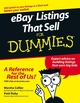 eBay Listings That Sell For Dummies (0470048107) cover image