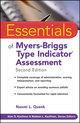 Essentials of Myers-Briggs Type Indicator Assessment, 2nd Edition (0470343907) cover image