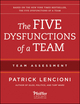 The Five Dysfunctions of a Team: Team Assessment, 2nd Edition (1118127307) cover image