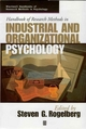 Handbook of Research Methods in Industrial and Organizational Psychology (1405127007) cover image