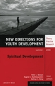 Spiritual Development: New Directions for Youth Development, Number 118 (0470390808) cover image