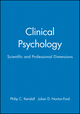 Clinical Psychology: Scientific and Professional Dimensions (0471043508) cover image