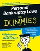 Personal Bankruptcy Laws For Dummies, 2nd Edition (0471773808) cover image