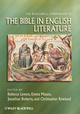 The Blackwell Companion to the Bible in English Literature (1405131608) cover image
