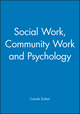 Social Work, Community Work and Psychology (1854331108) cover image