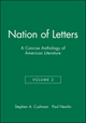 Nation of Letters: A Concise Anthology of American Literature, Volume 2 (1881089908) cover image