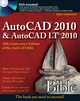 AutoCAD 2010 and AutoCAD LT 2010 Bible (0470436409) cover image