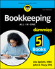 Bookkeeping All In One For Dummies, 2nd Edition (1119592909) cover image