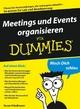 Meetings und Events organisieren für Dummies (3527657509) cover image